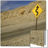 Road Sign Along Artist's Drive, Death Valley National Park, California Prints by Deon Reynolds