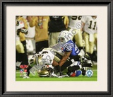 Roman Harper & Chris Reis Onside Kick Recovery Super Bowl XLIV Framed Photographic Print