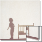 Silhouette of a Female Doll Next to a Crib Print by Daniel Root