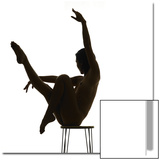 Woman Balancing on Chair and Doing Yoga Posters by Alfonse Pagano