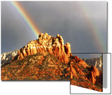 Rainbow over Snoopy Rock, Sedona, Arizona, USA Print by Margaret L. Jackson