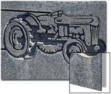 North America, Nevada, White Pine County, Lund, Lund Cemetery, Headstone Detail Kunstdruck von Deon Reynolds
