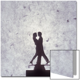 Silhouette of a Toy Couple Dancing Posters by Daniel Root