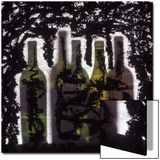 Silhouette of Wine Bottles Poster by Daniel Root