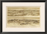 Grand Canyon: Views from Mt. Trumbull and Mt. Emma, c.1882 Framed Giclee Print by William Henry Holmes