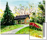 Small House Beside Huge Evergreen Tree Prints by Rich LaPenna