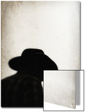 Silhouette of Cowboy Prints by April Bauknight