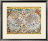 Antique Map, Orbis Terrarum, 1636 Posters by Jean Boisseau