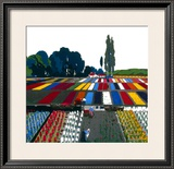 Bulb Time in Holland, Collecting the Blooms Framed Giclee Print by Frank Mason