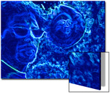 Abstract Image of Man in Blue Water Posters by Rich LaPenna