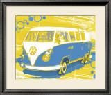 Vintage VW Bus Posters by Michael Cheung