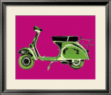 Vespa on Pink Posters by Myrjam Tell