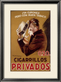 Cigarillos Privados Framed Giclee Print by Achille Luciano Mauzan