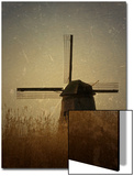 A Windmill with Old Photo Treatment Print by Abdul Kadir Audah