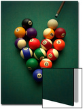 Pool Balls Arranged in a Heart Shape Posters by Abdul Kadir Audah