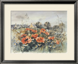 POPPY COTTAGE Limited Edition Framed Print by PERRI DUNCAN