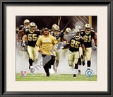 Deuce McAllister & Reggie Bush 2010 Playoff Framed Photographic Print