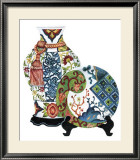 Oriental Vase and Plate Prints by Pat Woodworth