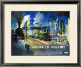 Service to Industry Framed Giclee Print by Terence Tenison Cuneo
