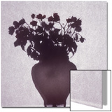 Silhouette of a Vase of Flowers Prints by Daniel Root