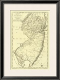 State of New Jersey, c.1795 Framed Giclee Print by Mathew Carey