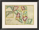 State of Maryland, c.1827 Framed Giclee Print by Robert Desilver