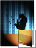 Silhouette of Saxophone Player Print by Rich LaPenna