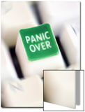 Computer Key Which Reads Panic Over Poster by Neil Overy