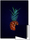 Pineapple on Royal Blue Background Prints by Rich LaPenna