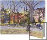 Watercolor Painting of a Park Scene Kunst von Steve Singer