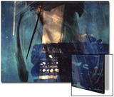 Abstract Image in Blue and White Prints by Daniel Root