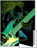 Cosmic Guitar Player Poster by Emiko Aumann