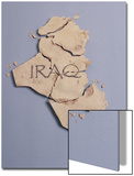 Broken Plaster Map of Iraq Art by  Monzino