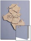Broken Plaster Map of Iraq Art by  Monzino