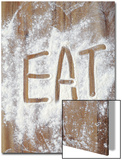 Word Eat in Flour Poster by Neil Overy