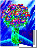 Bouquet of Asters in Vase Art by Rich LaPenna