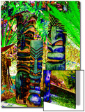 Three Iridescent Tiki Totem Poles Prints by Rich LaPenna
