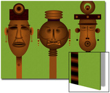Men and Women Totem in African Masks Art par Rich LaPenna