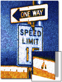 One Way and Speed Limit Sign Print by Rich LaPenna