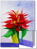 Poinsetta Flower in Pot Posters by Rich LaPenna