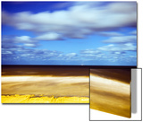Sea and Empty Beach in at Night, Blackpool, England, Uk Prints by Kevin Walsh