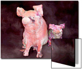 Pig and Piglet Statues Poster by Rich LaPenna