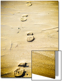 Footprints in the Sand Print by Kevin Walsh