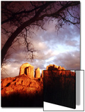 Sunset Sky over Cathedral Rock, Sedona, Arizona, USA Print by Margaret L. Jackson