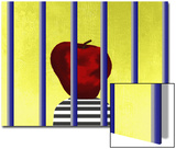 A Single Apple Behind Bars Prints by Rich LaPenna