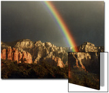 Rainbow over Crimson Cliffs, Sedona, Arizona, USA Posters by Margaret L. Jackson