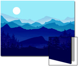 Blue Mountains, Evergreens and the Blue Moon Prints by Rich LaPenna