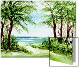 Australian Pine and Seagrape Line Path to Beach Poster by Rich LaPenna