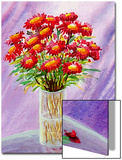 Bouquet of Asters in Vase Prints by Rich LaPenna