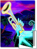 Man Playing Trumpet Prints by Emiko Aumann